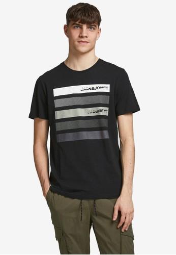 Jack & Jones black Logo Graphic T-Shirt B6E70AA79D6D12GS_1