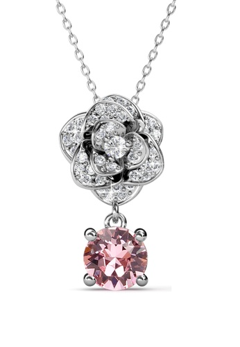 Her Jewellery pink Her Jewellery Glamour Rose Pendant (Pink) with Necklace Chain with 18K Gold Plated HE210AC61RHASG_1