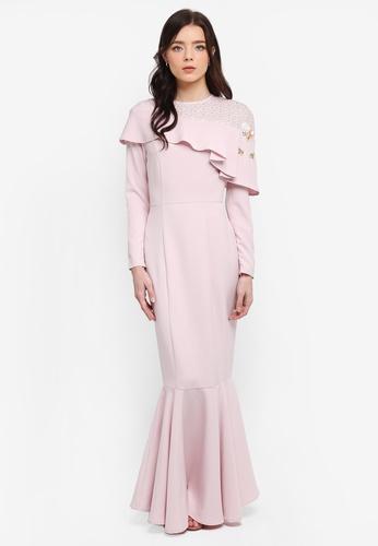 Zalia pink Embellished Lace Pieced Mermaid Dress E6591AAE12CCD1GS_1