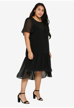 69c3f108c143 12% OFF LOST INK PLUS Plus Size Textured Swing Dress S$ 85.90 NOW S$ 75.90  Sizes 16 18 20 22 24