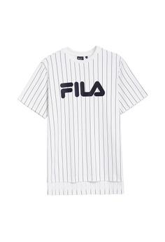 a23ba29920 Fila white Korea Collection Logo Stripe T-shirt 3E49AAA487DECDGS_1