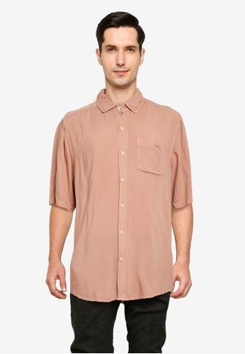 Cotton On red Cuban Short Sleeve Shirt AE920AA906635BGS_1