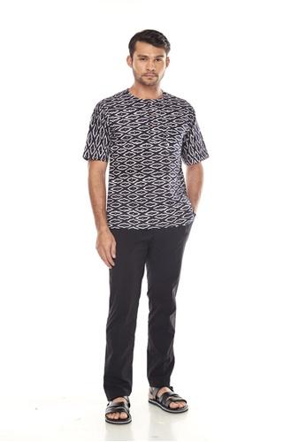 TUSCA black Adiwangsa Batik Shirt 63239AAC53073FGS_1