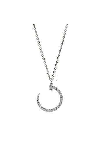 LYCKA silver LDR1243 S925 Silver Hook Shape Necklace F1849ACC8B98EFGS_1