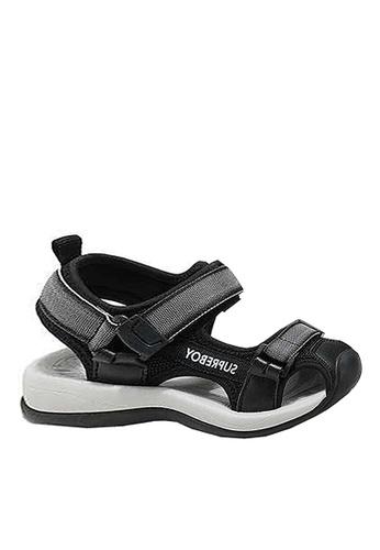 Twenty Eight Shoes 灰色 VANSA 拼色涼鞋 VSK-S007 A2BC6KS465A697GS_1