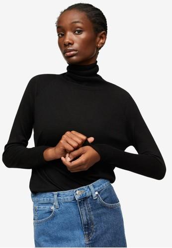 Mango black Turtleneck Knitted Sweater 16156AAF92AF40GS_1