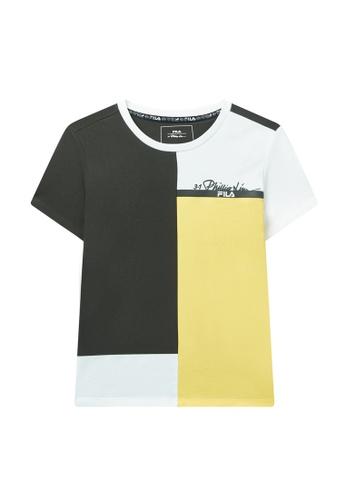 FILA green FILA x 3.1 Phillip Lim Women's Color Blocks Logo Cotton T-shirt 52929AAFCD5672GS_1