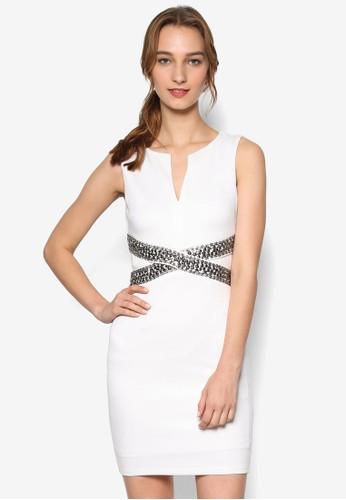Nilia 交叉金屬飾無袖連身裙, 服esprit 高雄飾, 服飾