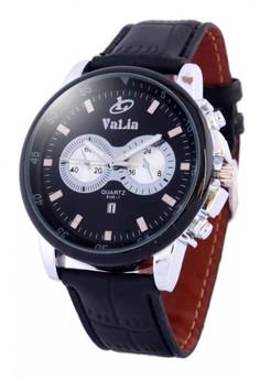 Valia Clark Leather Strap Watch 8230-2