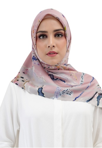 Buttonscarves pink Buttonscarves Le Costa Satin Square Dusty 64329AA278685DGS_1
