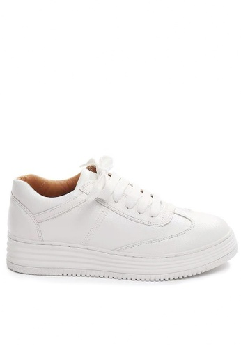 Twenty Eight Shoes 白色 簡約厚底白色波鞋2077 0316BSHF4802A4GS_1