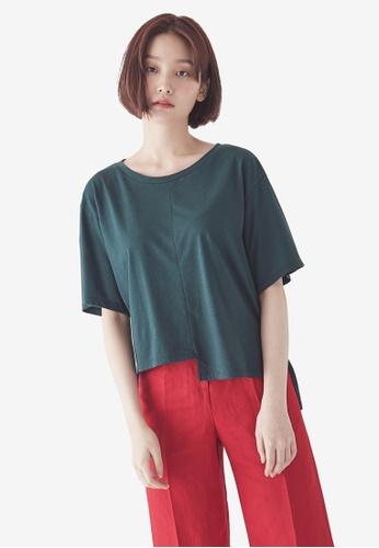 NAIN green Asymmetrical Top 79972AA390D328GS_1