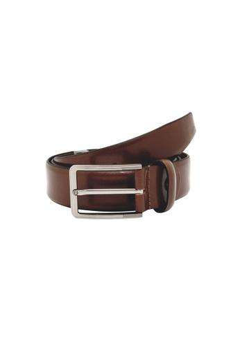 Oxhide brown Formal Leather Mens Belt - Business Belt Brown - Toledo Brown 30DD0ACA67187FGS_1