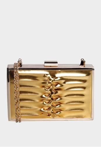 London Rag gold Sling Bag with Metallic Chain Strap 94D00ACBBA8B3CGS_1