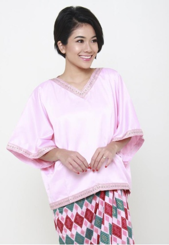 Naphthys Collection pink Bridesmaid Azzahra Ethnic Detailed Top NA003AA85FZYSG_1