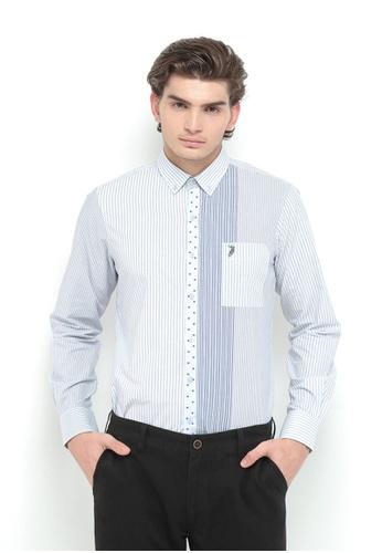 POLO HAUS multi Polo Haus - Woven Shirt (Blue/White) PO783AA07MVSMY_1