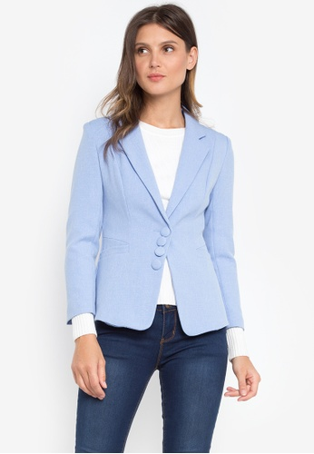 Well Suited blue Textured Blazer 53449AAE94CEF2GS_1