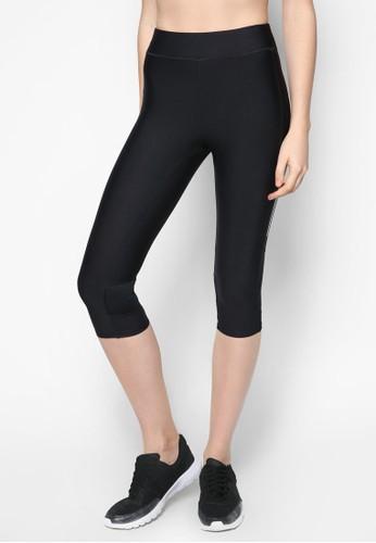 拼接貼zalora時尚購物網的koumi koumi身五分運動褲, 服飾, 緊身褲