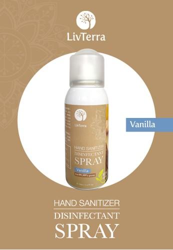 Queen Bee Forest Honey multi LivTerra PREMIUM Hand Sanitizer Disinfectant Aerosol Spray 100 mL - Vanilla 5804CESB2A0FDEGS_1