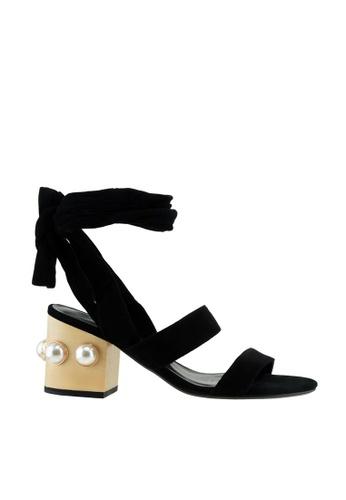 eq:iq black eqKRISTEN Gladiator Sandals EQ351SH20YODSG_1