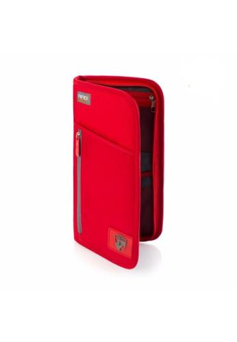 Heys Philippines red RFID Blocking Document Wallet HE581AC71DSAPH_1