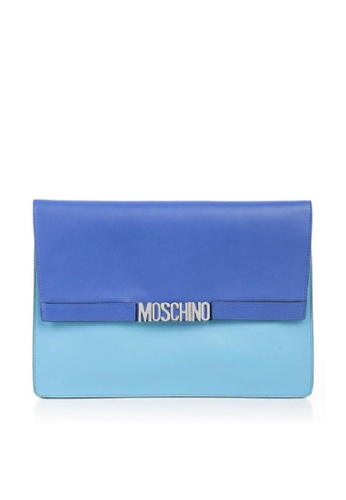 MOSCHINO blue MOSCHINO LOGO CLUTCH 6FEFAAC0FADC62GS_1