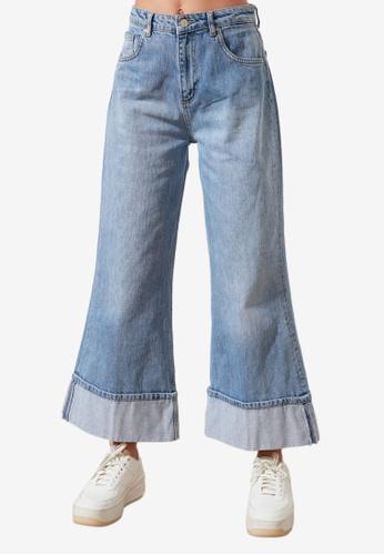 Trendyol blue High Waist Flare Jeans 8189DAAC1E125AGS_1