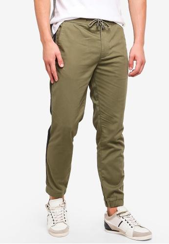 ESPRIT 米褐色 側邊細節素色褲子 B9B38AA44FA6AEGS_1
