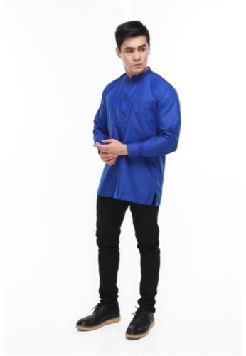 Amar Amran blue Kurta Al Hazim 2.0 4051BAAAFF8F54GS_1