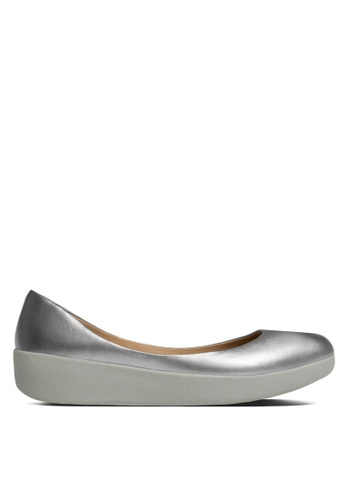 Fitflop silver Leather Superballerina Flats FI522SH22SBPMY_1