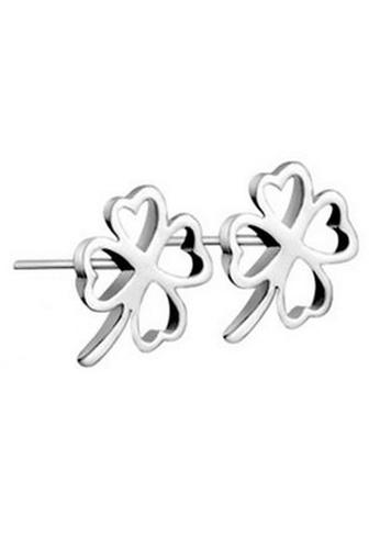 YOUNIQ silver YOUNIQ Lucky Clover 925 Sterling Earrings (Silver) YO999AC44NPNMY_1