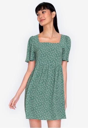 ZALORA BASICS multi Square Neck Babydoll Dress 61A62AAA05DCA2GS_1