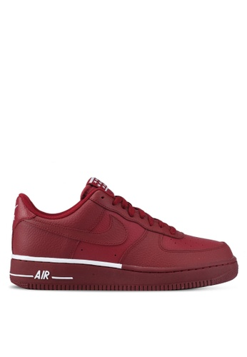 Nike white and red Men's Nike Air Force 1 '07 Shoes NI126SH0STRYMY_1