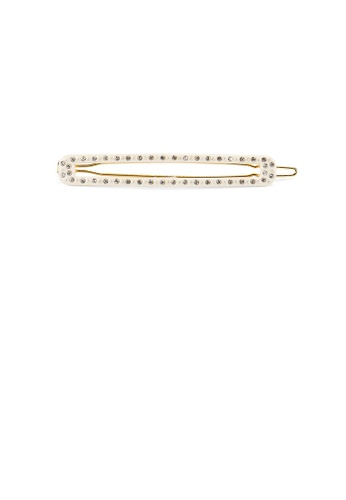 Glamorousky white Fashion and Simple Beige Geometric Long Strip Hair Clip with Cubic Zirconia F21AFACBCCC965GS_1