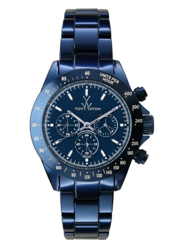 ToyWatch blue Metallic Chrono Collection Blue Aluminium Bracelet Men Watch TO276AC51EMMMY_1