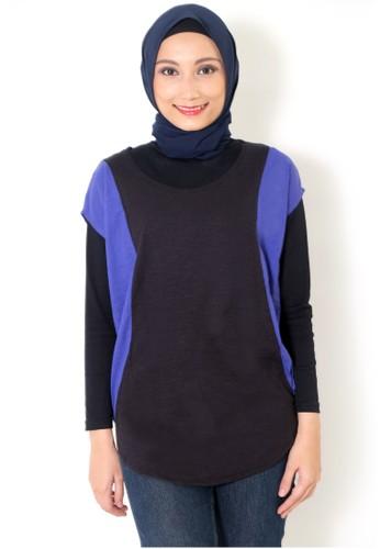 Cullotes Solid Basic Black Purple Shirt CU322AA05JRUID_1