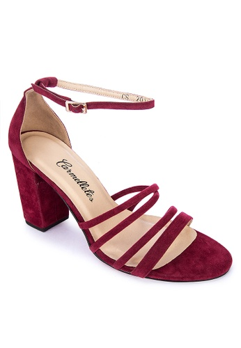 CARMELLETES red Strappy Heeled Sandals 2A63CSH42A116BGS_1