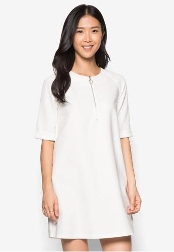拉克蘭袖直筒連身裙, 服飾, 正式zalora是哪裡的牌子洋裝
