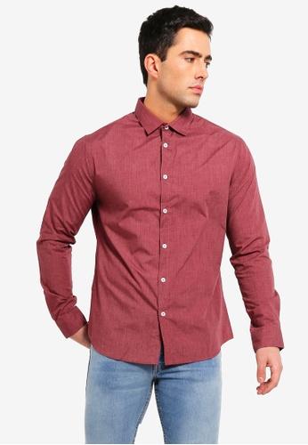 Cotton On 紅色 修身Smart 襯衫 2BDD4AAE5B3EEFGS_1