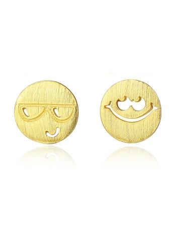 SUNRAIS gold High quality Silver S925 gold fashion earrings 00C51AC10E9ED8GS_1