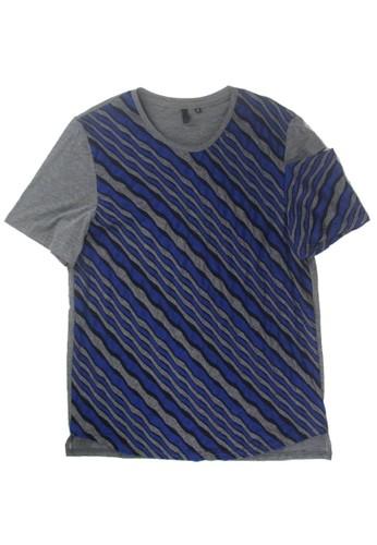 石紋路短袖上衣, 服飾, zalora 鞋評價素色T恤