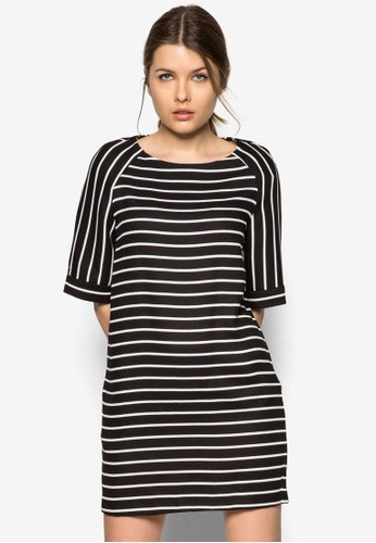 Stripe Textured Dress, zalora 台灣門市服飾, 服飾