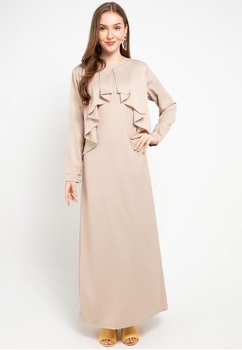 HAZELNUT brown Melody Dress 44C6AAAE3EF81FGS_1