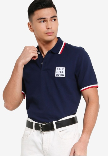 Brooks Brothers navy Knit Polo Shirt D33A6AA4BA6381GS_1