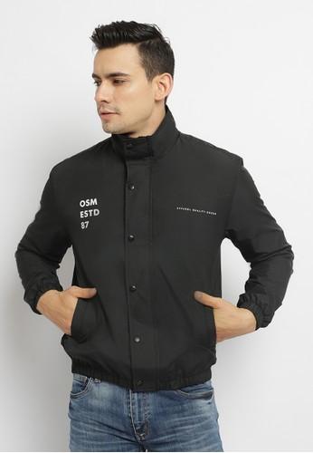 Osella black Osella Baju Pria Jacket Hitam 266CFAAE9F291FGS_1