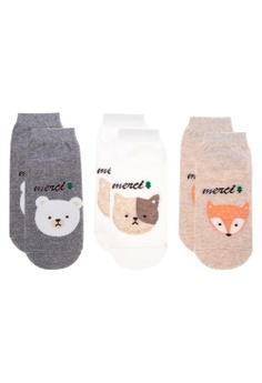 ebbaf475384972 Kiss Socks multi 3-In-1 Merci Animal Socks E3D93AA381DC00GS 1
