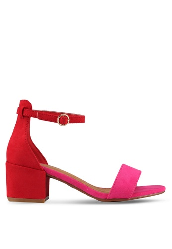 Rubi red and pink Ivy Low Block Heels E6DF6SHF499F7CGS_1