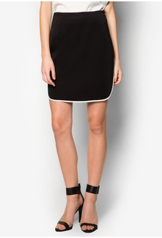 Collection Contrast Piping Pencil Skirt