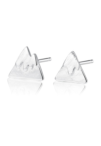 SUNRAIS silver Premium Silver S925 silver triangle earrings 83FEDAC9291528GS_1