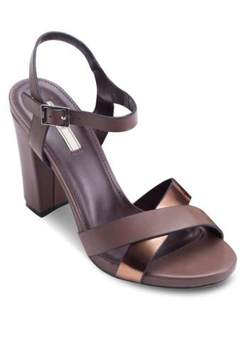 雙色交叉帶esprit holdings limited高跟涼鞋, 女鞋, 細帶高跟鞋